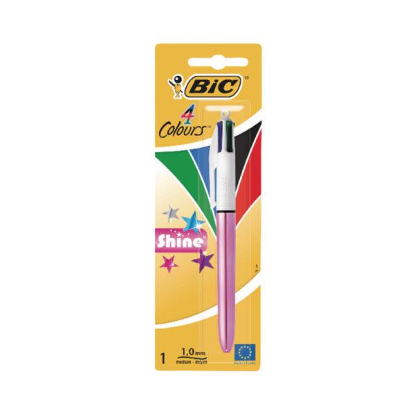 BIC 4 COLOURS SHINE BLISTER PK10