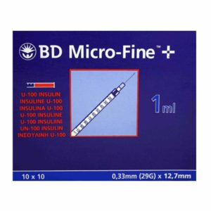 BD Micro Fine Insulin Syringe 1ml with 29G Needle x 200