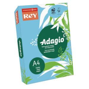 ADAGIO CARD A4 160GM BRIGHT BLUE PK250