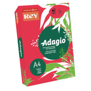 ADAGIO CARD A4 160GM RED PK250