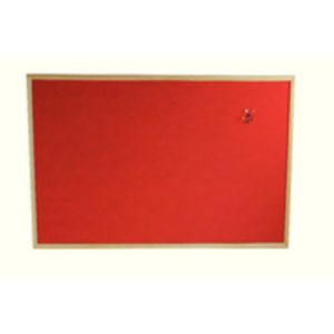 BI SILQUE MEMO CORK BOARD RED 600X900MM