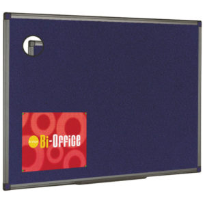 BI OFFICE BLUE FELT BRD 600X450 ALUM FIN