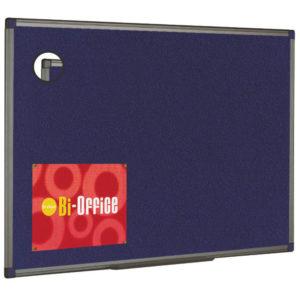 BI OFFICE BLUE FELT BRD 900X600 ALUM FIN