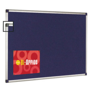 BI OFFICE BLUE FELT BRD 1200X900 ALU FRM