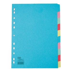 ELBA A4 10-PART CARD DIV AST 400007246