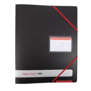 BLACK N RED 4 RING BINDER A4 16MM