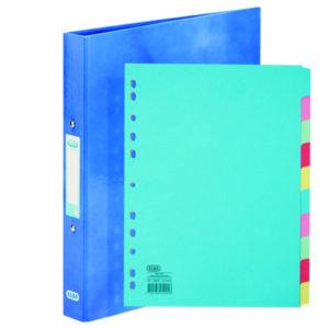 ELBA CLASSY R/BINDER BLUE FOC DIVIDER