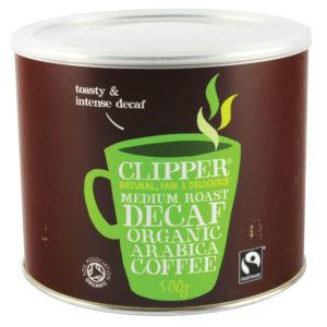 ORGANIC DECAFF COFFEE TIN 500G