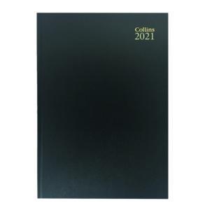 COLLINS DESK DIARY WTV A4 BLK 2021