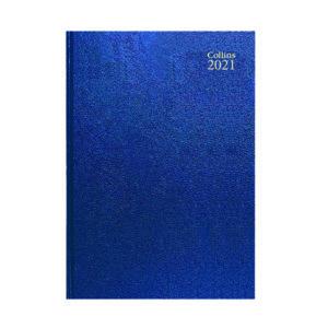 COLLINS DESK DIARY WTV A4 BLUE 2021