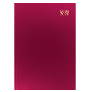 COLLINS A4 DESK DIARY WTV 2020 RED