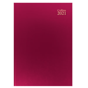 COLLINS DESK DIARY WTV A4 RED 2021
