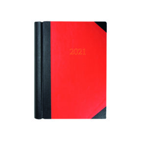 COLLINS DIARY 2 PPD A4 BLK/RD 2021