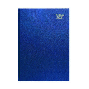 COLLINS DESK DIARY DPP A4 BLUE 2021