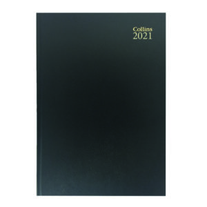 COLLINS DESK DIARY 2 PPD A4 BK 2021