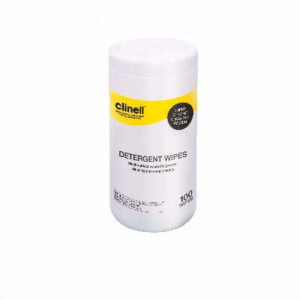 Clinell Detergent Wipes Tub x 110 (Yellow)
