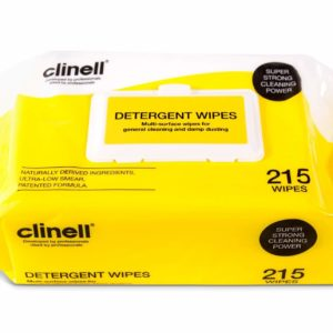 Clinell Detergent Wipes x 215 (Yellow)