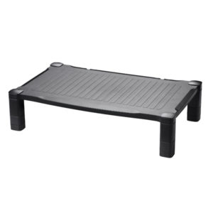 CONTOUR EXTRA WIDE MONITOR STAND BLACK