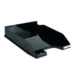 CONTOUR LETTER TRAY GLOSSY BLACK