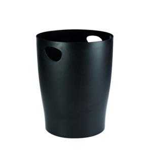 CONTOUR WASTE PAPER BIN BLACK