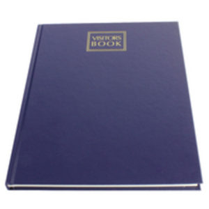 COLLINS VISITORS BOOK TIGARA 192P 40