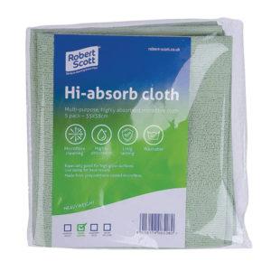 ROBERT SCOTT HI-ABSORB CLOTH GREEN PK5