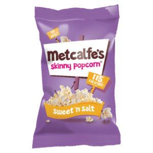METCALFES SKINNY POPCORN SWEETNSALT PK24