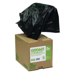 GREEN SACK CUBES MEDIUM BLACK BOX PK75