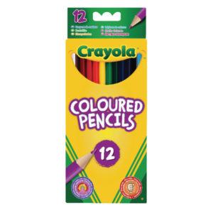 CRAYOLA 12 COLOURED PENCILS 12PK