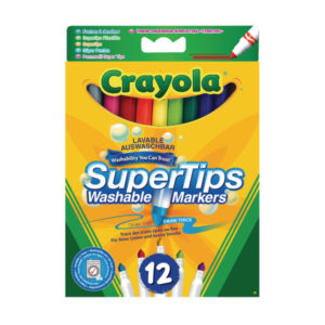 CRAYOLA 12 BRIGHT SUPERTIPS 6PK
