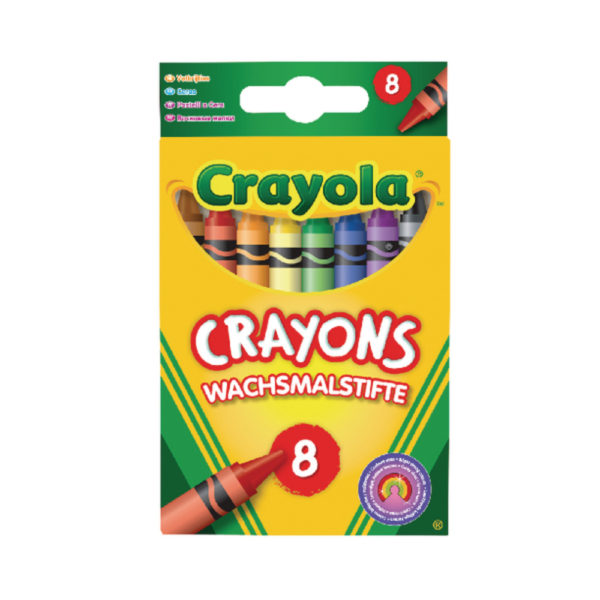 CRAYOLA CRAYONS 8 ASSORTED 24PK