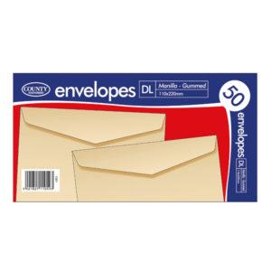 DL MANILLA GMD ENVELOPES 50 20PK