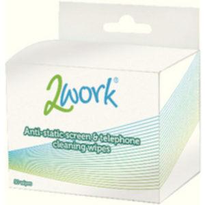 2WORK ANTISTATIC SCREEN/PHONE WIPES PK50