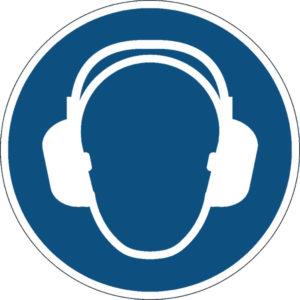 DURABLE USE EAR PROTECTION FLOOR SIGN