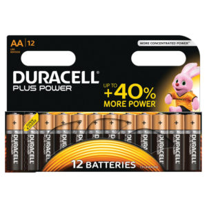 DURACELL AA PLUS 12 PACK COPPER/BLACK