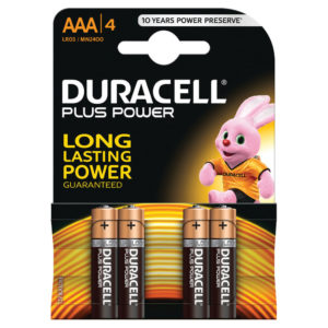 DURACELL AAA PLUS 4 PACK COPPER/BLACK