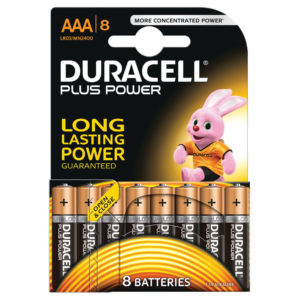 DURACELL AAA PLUS 8 PACK COPPER/BLACK