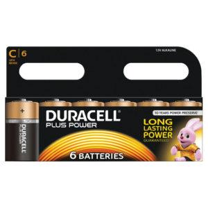 DURACELL C PLUS 6 PACK COPPER/BLACK