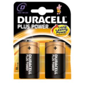 DURACELL D PLUS 2 PACK COPPER/BLACK