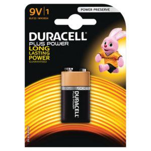 DURACELL 9V PLUS 1 PACK COPPER/BLACK