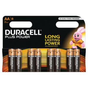 DURACELL AA PLUS 8 PACK COPPER/BLACK
