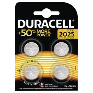 DURACELL 2025 LITHIUM COIN BATTERY PK4
