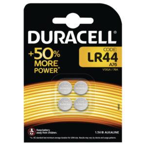 DURACELL LR44 BUTTON BATTERIES PK4