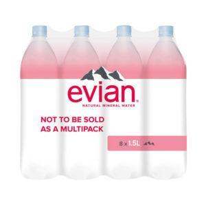 EVIAN 1.5L STILL WATER PK8