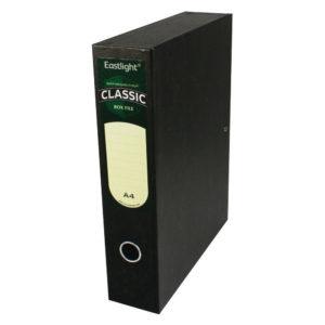 EL CLASSIC BOXFILE LOCKSPRNG A4 BK 30145
