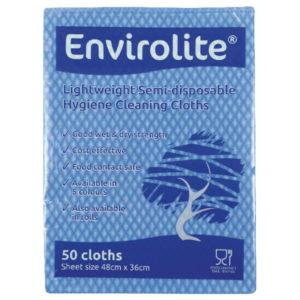 ENVIROLITE CLOTH LARGE BLUE PK50