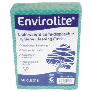 ENVIROLITE CLOTH LARGE GREEN PK50