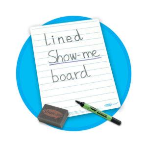 SHOWME A4 LINED WHTBOARD SETS C/LIB