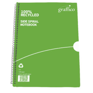 GRAFFICO RECYCLED SPIRAL NTBOOK A4