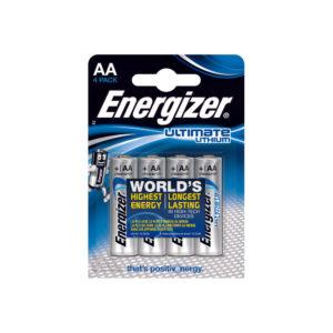 ENERGIZER E2 LITHIUM BATTERIES AA PK4
